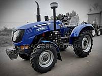 Трактор GSTAR 244HSL, 3 цилиндра, ГУР, 4х4, блок колес, широкие шины. Лучший минитрактор, супер цена. Синтай, фото 1