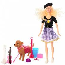 Кукла-скрипачка с собачкой Sariel