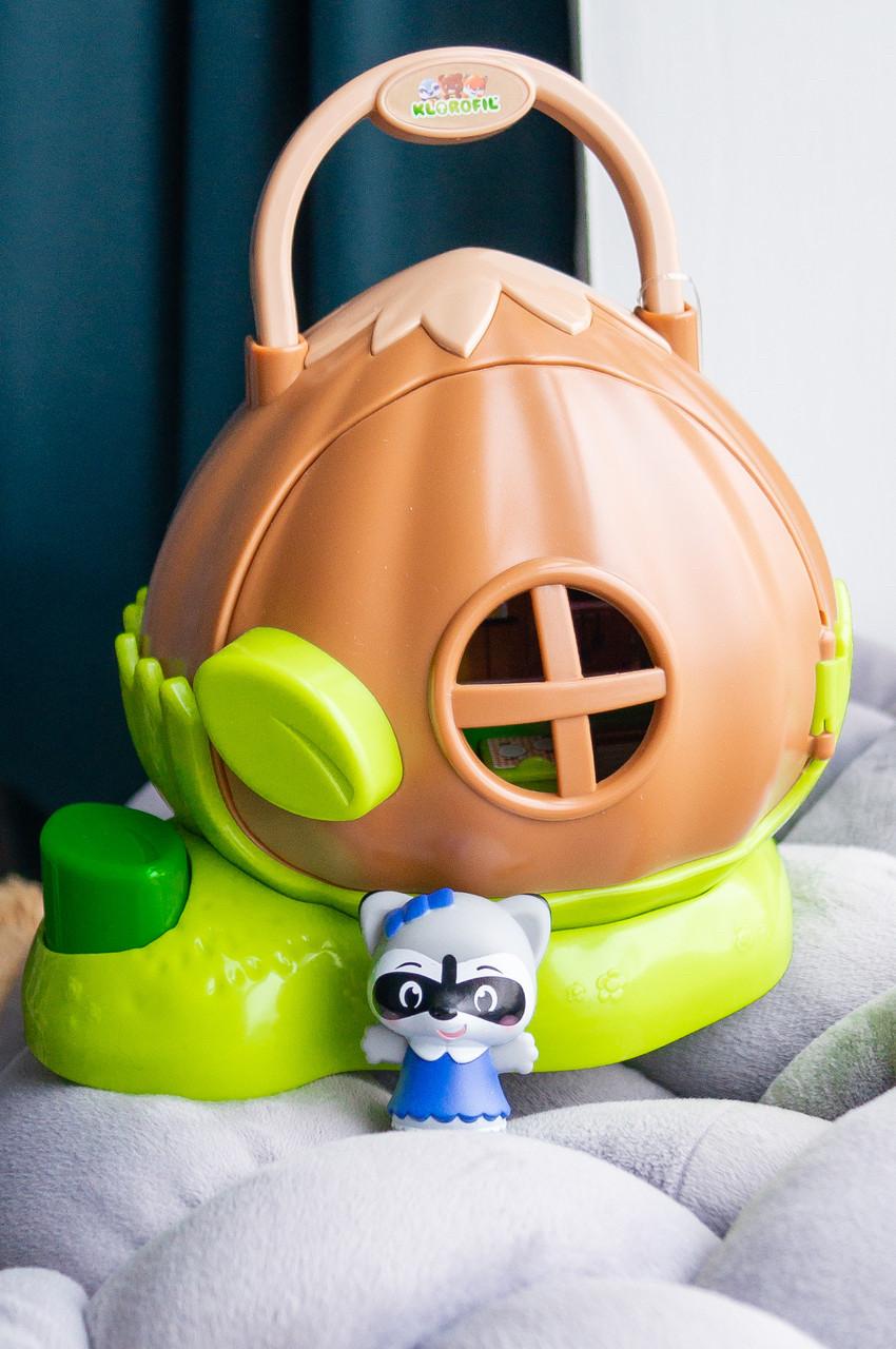 Игровой набор кукольный домик в орешке Klorofil