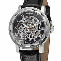 Годинники чоловічі наручні Winner 8012С Silver-Black ( ABR-1099-0043)