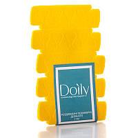 Разделители - распорки педикюрные деликатные Doily (5 пар / уп) из пенополиэтилена Цвет: желтый