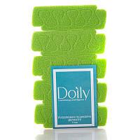 Разделители - распорки педикюрные деликатные Doily (5 пар / уп) из пенополиэтилена Цвет: лайм