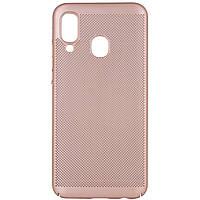 Ультратонкий дышащий чехол Grid case для Samsung Galaxy A40 (A405F)