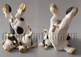Бык и теленок с цветами 21х15х18см