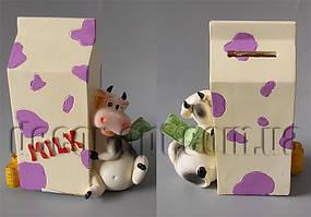 Бычок с пакетом молока 14х12х6см В