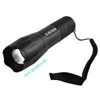 Ручной фонарь аккумуляторный светодиодный Police 1831-T6+COB, ЗУ micro USB, встроенный аккумулятор, zoom, ремешок, фото 1