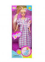 """Лялька """"Defa. Вагітна"""" (плаття в клітинку) 6001"""