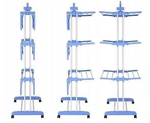 Сушилка для белья Garment rack with wheels   Универсальная складная напольная сушилка для одежды, фото 2