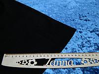 Ткань мраморный велюр на теплом трикотаже джинсового цвета, фото 1