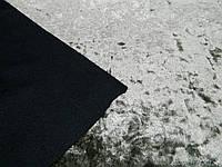 Ткань мраморный велюр на теплом трикотаже цвета мокко, фото 1