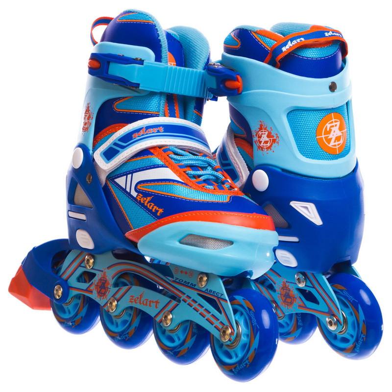 Роликовые коньки раздвижные CANDY синие Z-5104