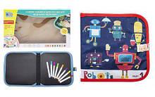 """Книжка-коврик для рисования водными мелками """"Роботы"""" RE 333-63-66-69-70"""