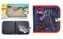 """Книжка-коврик для рисования водными мелками """"Велосипедист"""" RE333-63-66-69-70"""