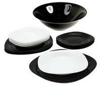 Набір посуду Carine (19) чорний і білий