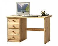 Стол письменный компьютерный из массива дерева сосна 011
