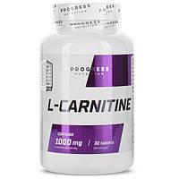 Жиросжигатель L-carnitine Progress Nutrition 1000mg (30 таб.)