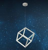 Люстра подвес,светодиодный куб 801L7250 WH LED 46W (25см)