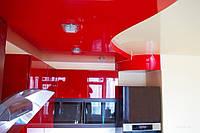 Двухуровневый натяжной потолок на кухне, фото 1