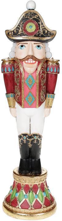 "Декоративная статуэтка ""Щелкунчик"" 35.5см бордо с бирюзой"