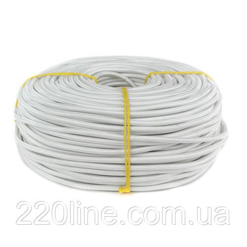 ElectroHouse Провід в тканинної оплітці 2 х 0.5мм² білий