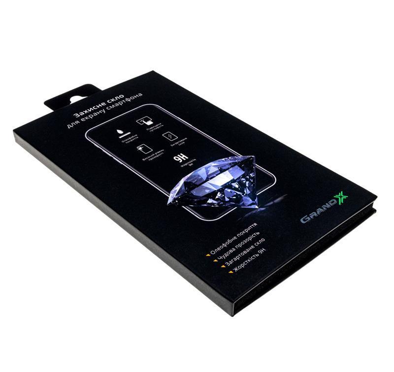 Защитное стекло Grand-X для Apple iPhone 7 Black, 0.33мм (GXAIP7PB)