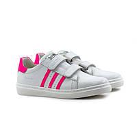 Кроссовки Девочки Демисезонные Кожанные Белые TUTUBI 151-FL 31 размер