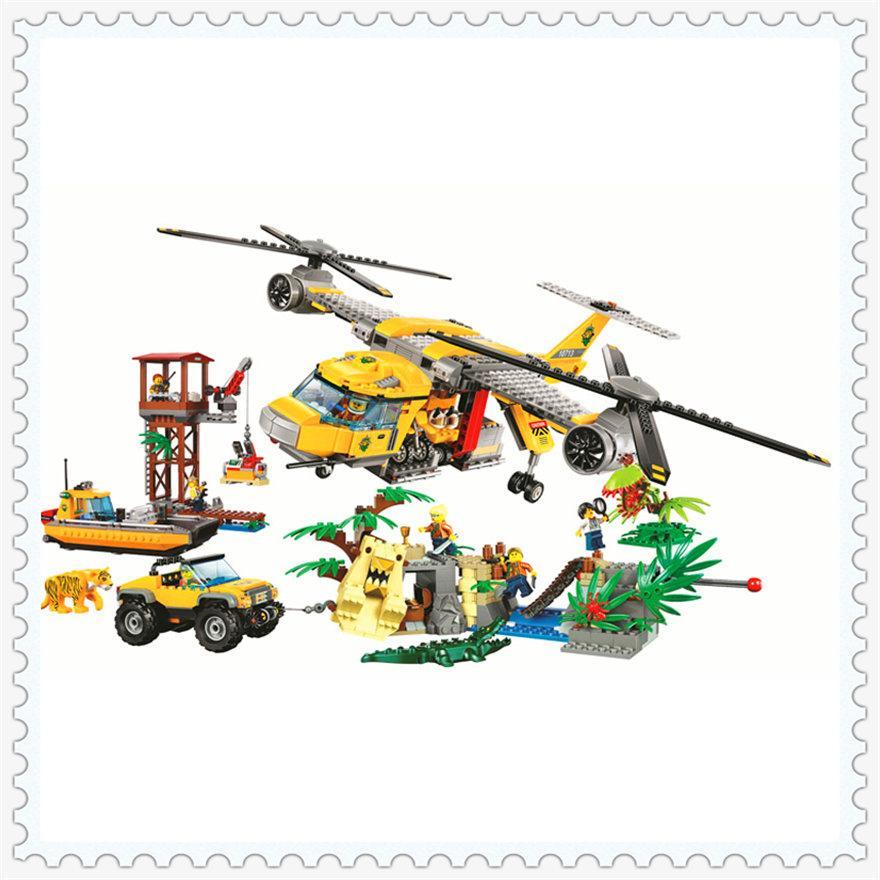 Конструктор 10713 Вертоліт для доставки вантажів у джунглі 1298
