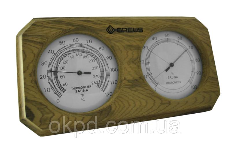 Термогигрометр Greus 26х14  кедр