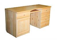 Стол письменный из натурального дерева 012