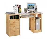 Стол компьютерный письменный из натурального дерева 030