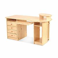 Стол компьютерный письменный из массива дерева 013