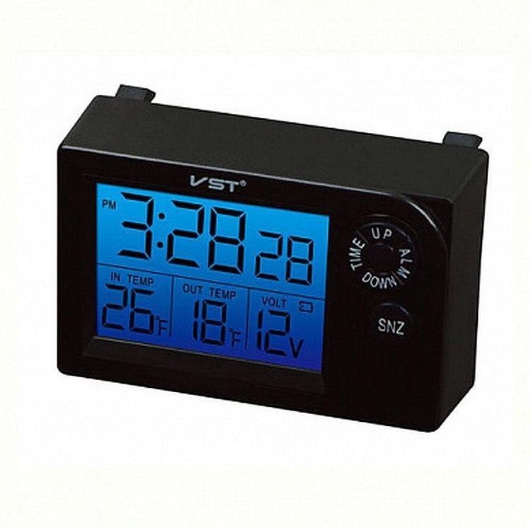 Автомобильные часы, термометр, вольтметр Vst-7048v
