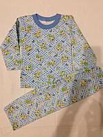 Пижама детская футер (байка,начес) . Размер 52