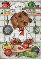 """""""Хвостатый кулинар"""" М.П. Студия. Набор для вышивки крестом (НВ-676)"""
