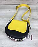 Сумка «Megan» желтая с черным, фото 3