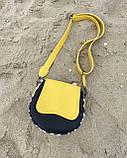 Сумка «Megan» желтая с черным, фото 5