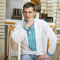Вышиванка мужская (41 размер) - домоткана тканина