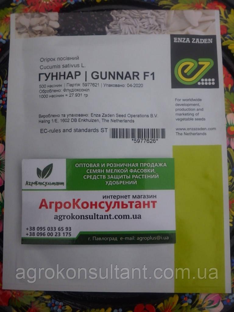 Семена огурца Гуннар F1 (Энза Заден) 500 семян — партенокарпик,  очень ранний гибрид
