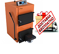 Котел твердотопливный Caldera СТ 35 F (с электронным регулятором температуры и вентилятором)