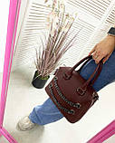 Женская сумка «Jean» бордовая, фото 2