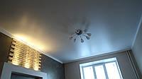 Сатиновый натяжной потолок в кабинете, фото 1