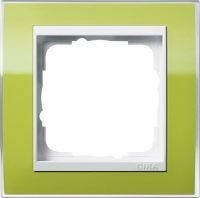 Рамка 1-я Белый Gira Event Clear Зеленый Gira 0211743