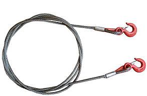 Трос стальной 4Т x10 мм x3.6м TC-310 крюк