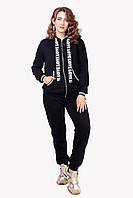 Женский базовый черный спортивный костюм в размере 48,50,52,54