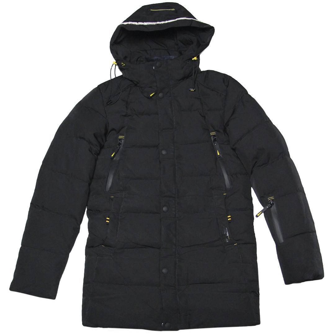 Зимняя удлиненная куртка парка для мальчика подростка 164-176 рост ZPJV черная