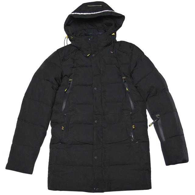 зимняя подростковая удлиненная куртка черная