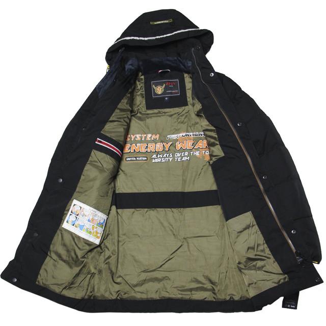 зимняя куртка для мальчика подростка черная длинная