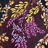 Рябина 352-19, павлопосадский платок шерстяной  с шерстяной бахромой, фото 7