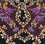 Рябина 352-19, павлопосадский платок шерстяной  с шерстяной бахромой, фото 8
