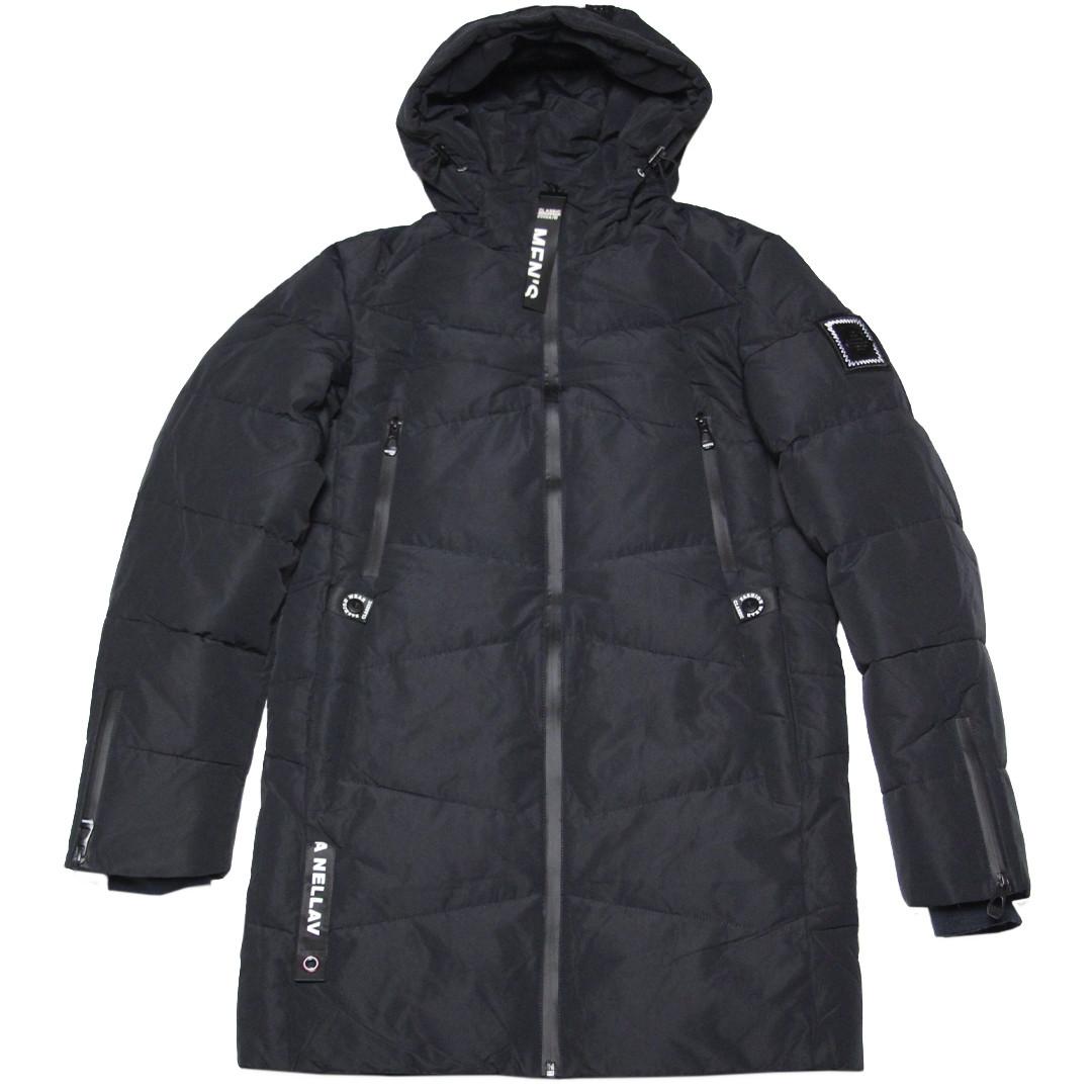 Зимняя подростковая куртка для мальчика 164-170 рост ZPJV черная